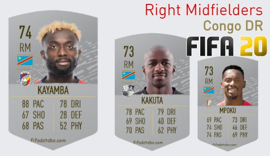 Congo DR Best Right Midfielders fifa 2020
