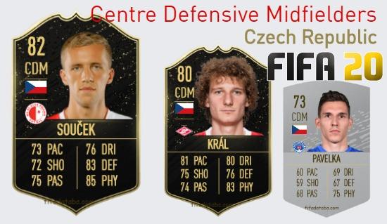 Czech Republic Best Centre Defensive Midfielders fifa 2020