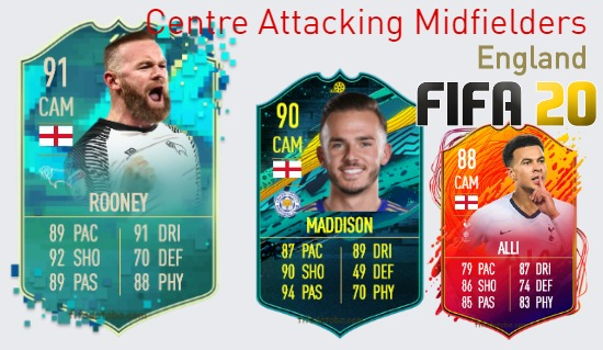 England Best Centre Attacking Midfielders fifa 2020