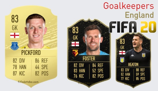 England Best Goalkeepers fifa 2020