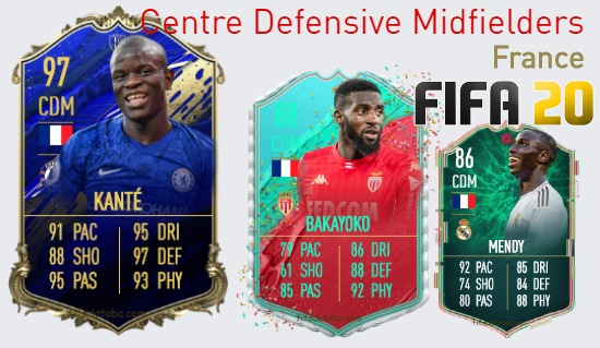France Best Centre Defensive Midfielders fifa 2020