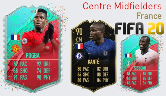 France Best Centre Midfielders fifa 2020