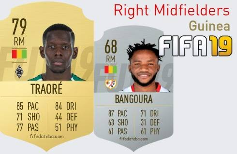 Guinea Best Right Midfielders fifa 2019