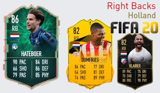 Holland Best Right Backs fifa 2020
