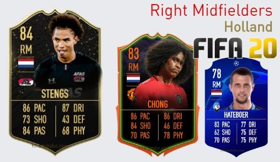 Holland Best Right Midfielders fifa 2020
