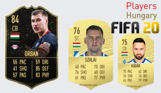 FIFA 20 Hungary Best Players Ratings