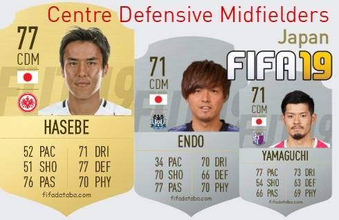 Japan Best Centre Defensive Midfielders fifa 2019