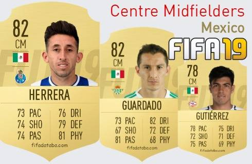 Mexico Best Centre Midfielders fifa 2019