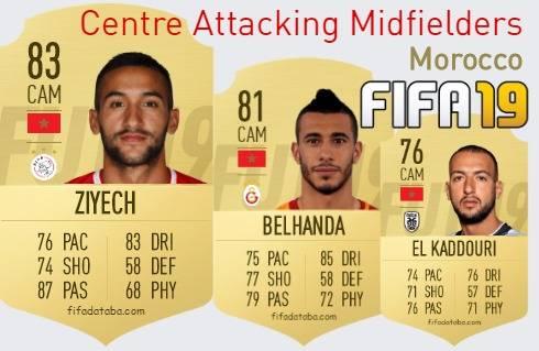 Morocco Best Centre Attacking Midfielders fifa 2019