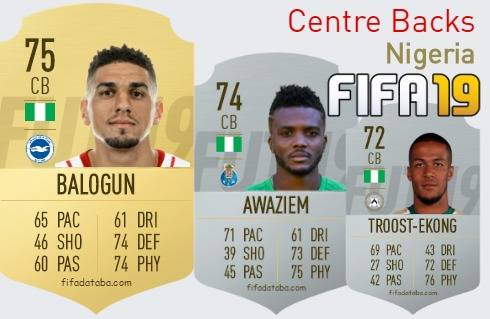 Nigeria Best Centre Backs fifa 2019