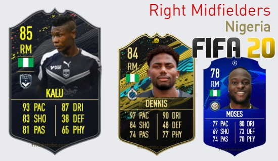 Nigeria Best Right Midfielders fifa 2020