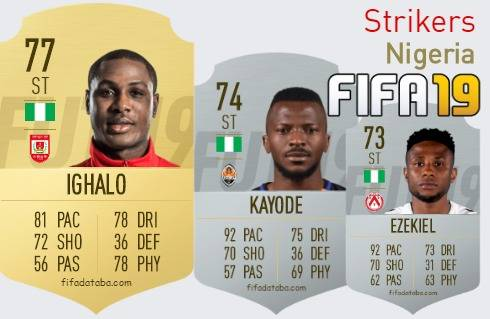 Nigeria Best Strikers fifa 2019