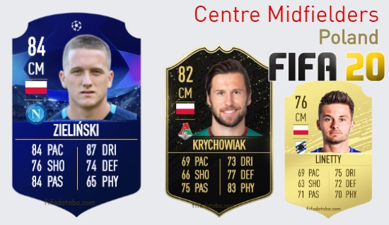 Poland Best Centre Midfielders fifa 2020