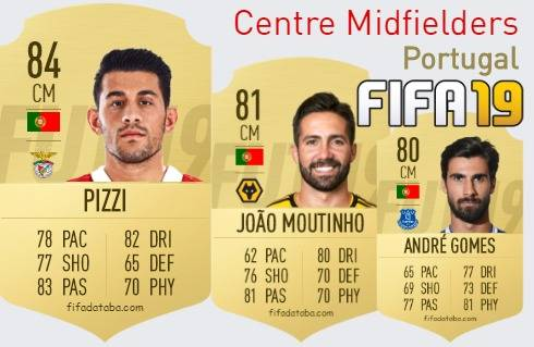 Portugal Best Centre Midfielders fifa 2019
