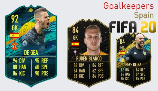 Spain Best Goalkeepers fifa 2020