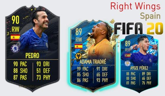 Spain Best Right Wings fifa 2020