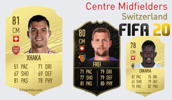 Switzerland Best Centre Midfielders fifa 2020
