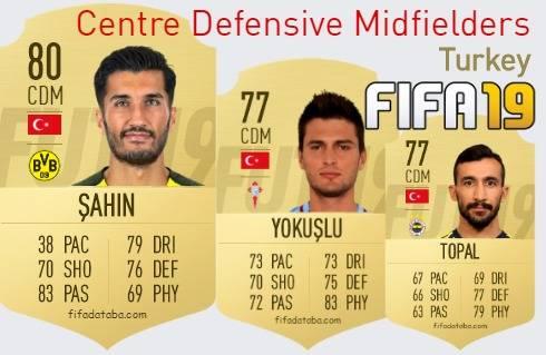 Turkey Best Centre Defensive Midfielders fifa 2019