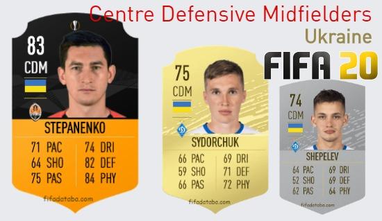 Ukraine Best Centre Defensive Midfielders fifa 2020