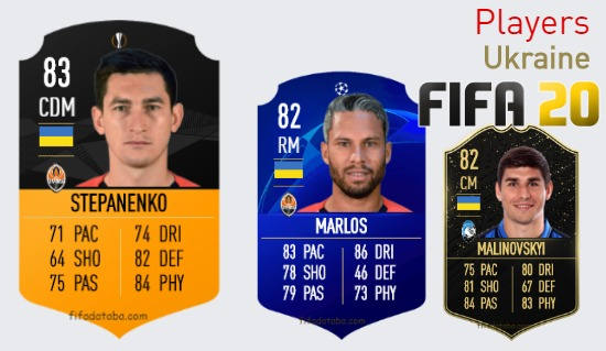 FIFA 20 Ukraine Best Players Ratings