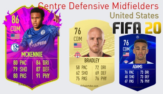 United States Best Centre Defensive Midfielders fifa 2020