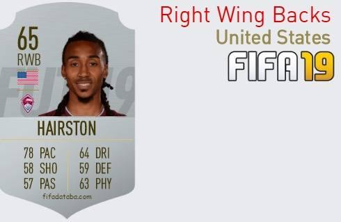 FIFA 19 United States Best Right Wing Backs (RWB) Ratings