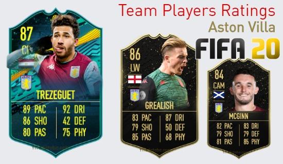 Aston Villa FIFA 20 Team Players Ratings