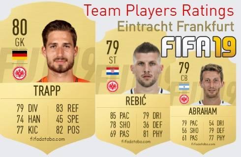 Eintracht Frankfurt FIFA 19 Team Players Ratings
