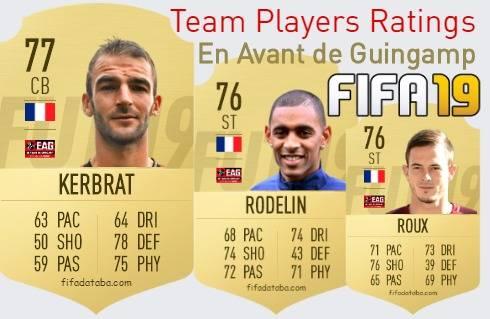 En Avant de Guingamp FIFA 19 Team Players Ratings
