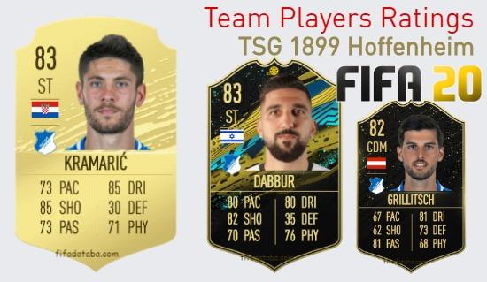 TSG 1899 Hoffenheim FIFA 20 Team Players Ratings
