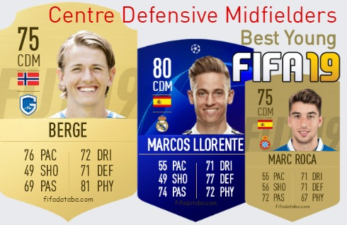 Best Young Centre Defensive Midfielders fifa 2019